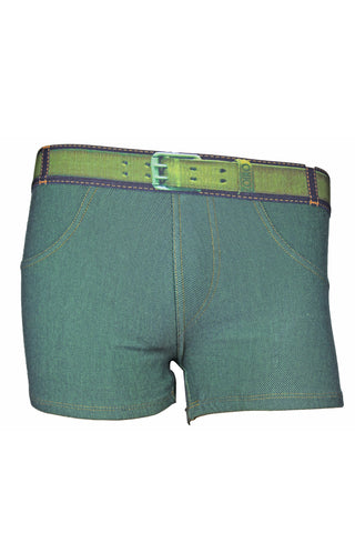 Zoiro Denin 4102 Premium Cotton Mid Rise Fashion Trunk-Green Band (2)