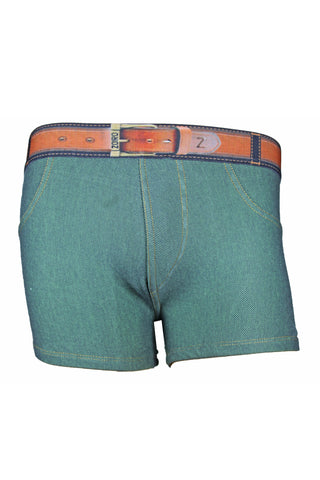 Zoiro Denin 4102 Premium Cotton Mid Rise Fashion Trunk-Green Band (3)