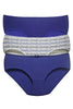 Juliet 4700RG Women's Plain - Print Pack of 3Panties Assorted