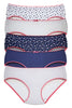 Juliet 4818HP Women's Plain - Print Pack of 5 Panties Assorted