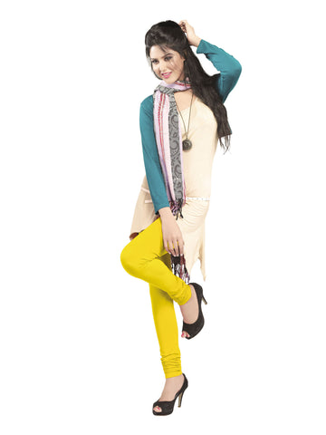 Juliet 2727 Womens premium Cotton Chuddi Leggings, Light Yellow