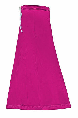 Googlias Women's Lace Bottom Satin Saree Slips Length 40-Young Fuschia