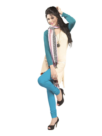 Juliet 2727 Womens premium Cotton Chuddi Leggings, Light Blue