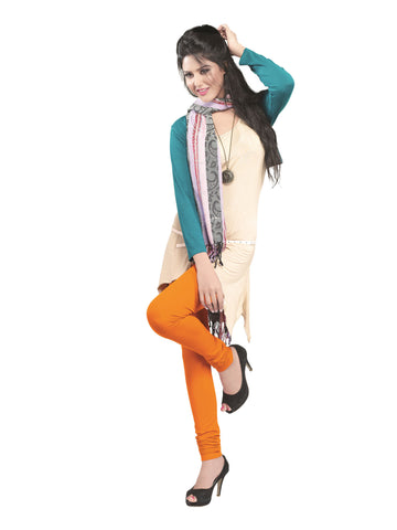 Juliet 2727 Women's premium Cotton Chuddi Leggings, Bright Orange