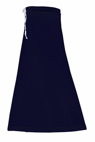 Googlias Women's Lace Bottom Satin Saree Slips Length 40-Navy Blue