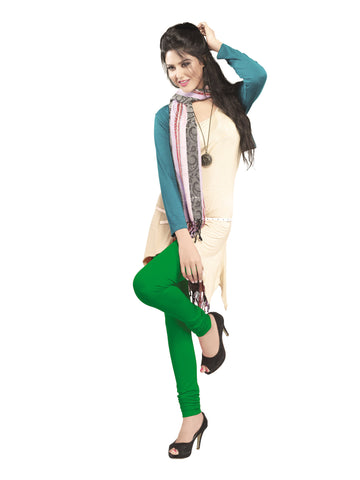 Juliet 2727 Womens premium Cotton Chuddi Leggings, Parrot Green