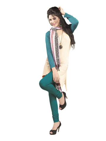 Juliet 2727 Womens premium Cotton Chuddi Leggings, Jade Green