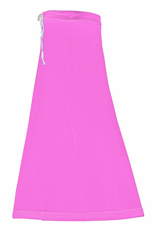 Googlias Women's Lace Bottom Satin Saree Slips Length 40-Onion Pink