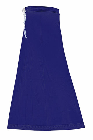 Googlias Women's Lace Bottom Satin Saree Slips Length 40-Blueberry