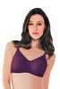 Enamor AB75 Women's Lace T-Shirt Full Figure Bra-Purple