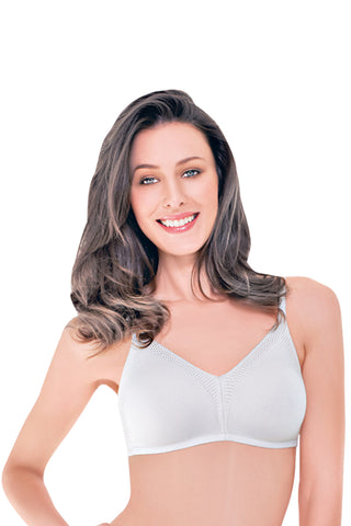 Enamor AB75 Women's Lace T-Shirt Full Figure Bra-White