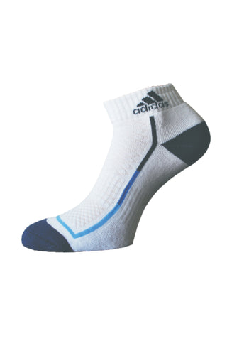 Adidas Pack Of 1 Men's Half Cushion Ankle-White- Blue Depth