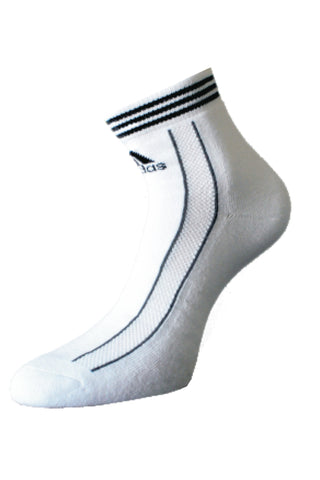 Adidaas Pack Of 1 Men's Full cushion Quarter-White- Black