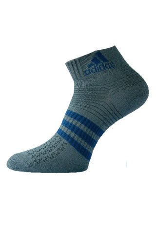 Adidas Pack Of 1 Men's Flat Knit Ankle -Dark Grey