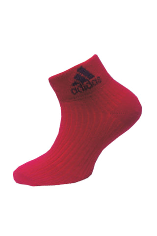 Adidas Pack Of 1 Women's Flat Knit Quarter-Vivid Berry
