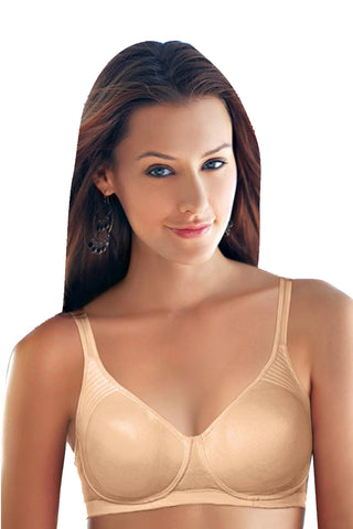 Enamor A042 Women's Side Support T-Shirt Full Figure Bra-Skin