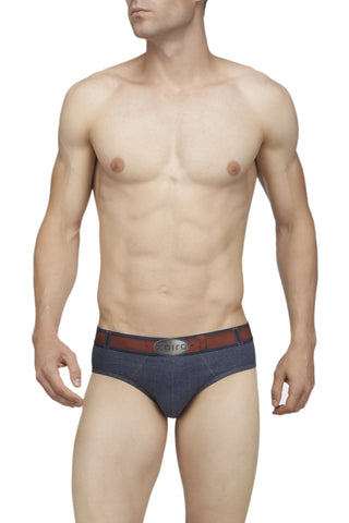 Zoiro Denin 4101 Premium Cotton Fashion Midrise Brief-Blue Band (1)