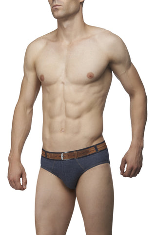 Zoiro Denin 4101 Premium Cotton Fashion Midrise Brief-Blue Band (3)