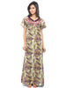 Juliet FN 70645 Women's Full Nighty,Brown Print