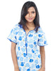Juliet FN 70750 Women's Full Nighty,Blue Print