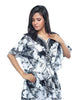 Juliet FN 70806 Women's Fancy Nighty,Black Print