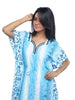 Juliet FN70807 Women's Fancy Nighty,Blue Print
