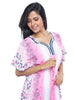 Juliet FN70807 Women's Fancy Nighty,Pink Print