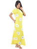 Juliet FN70871 Women's Fancy Nighty,Yellow Print