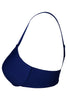 Hanes G511 Women's Seamless Padded Nylon Low Cut T-Shirt Bra-Deep Blue