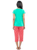 Juliet JLCP12181 Women's Capri Night Suit,Green