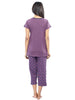 Juliet JLCP12299 Women's Capri Night Suit,Light Wine