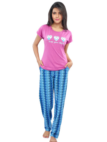 Juliet JLPJ12179 Women's Pyjama Night Suit,Pink