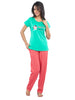 Juliet JLPJ12363 Women's Night Suit,Green