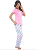 Juliet JLPJ12392 Women's Pyjama Night Suit,Light Pink