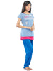Juliet JLT311866 Women's Pyjama Night Suit,3 Piece Pack Royalight Blue