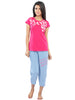 Juliet JLTC11831 Women's Capri Night suit,Pink