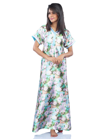Juliet JRB10010 Women's Fancy Nighty,Lavend Blue Pri