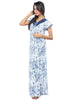 Juliet JRB10013 Women's Fancy Nighty,Navy Print