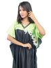 Juliet JRB10037 Women's Fancy Nighty,Black Green Print
