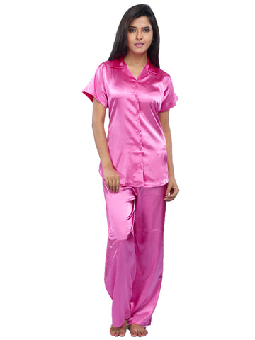 Juliet JRB9025 Women's Pyjama Night Suit,Pink