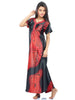 Juliet JRB9042 Women's Fancy Nighty,Red Print