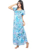 Juliet JRB9064 Women's Fancy Nighty,Blue Print