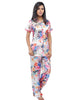 Juliet JRB9075 Women's Pyjama Night Suit,Light Flower Pri