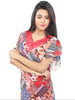 Juliet JRB9083 Women's Fancy Nighty,Red Print