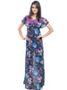 Juliet JRB9096 Women's Fancy Nighty,NvyBlue Purp Pri