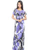 Juliet JRB9098 Women's Full Nighty,Purple Print