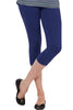 Juliet JSL-2718 Women's Cotton Lacra 3/4thLength Capri Leggings-Dark Blue (35)