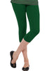 Juliet JSL-2718 Women's Cotton Lacra 3/4thLength Capri Leggings-Green (44)