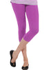 Juliet JSL-2718 Women's Cotton Lacra 3/4thLength Capri Leggings-Majenta (24)