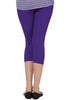 Juliet JSL-2718 Women's Cotton Lacra 3/4thLength Capri Leggings-Purple (29)